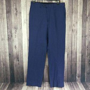 Broletto men's navy linen dress pants